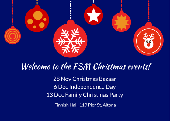 Welcome to the FSM Christmas events!